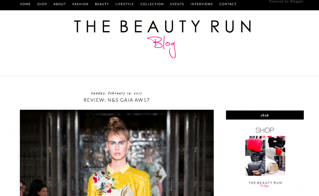 beauty run blogs